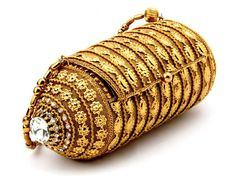 Bridal Purse from gold plated brass #Metal, embellished with sparkling #Diamantes. Item Code ; SJBP2007 http://www.bharatplaza.com/new-arrivals/accessories.html