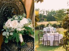 Kaitlyn and Spencer - Woodlands Fields Photography White Wedding Flowers, Flower Bouquet Wedding, White Flowers, Wedding Reception Centerpieces, Reception Decorations, Chipley Florida, Farm Wedding, Wedding Day, Outdoor Ceremony