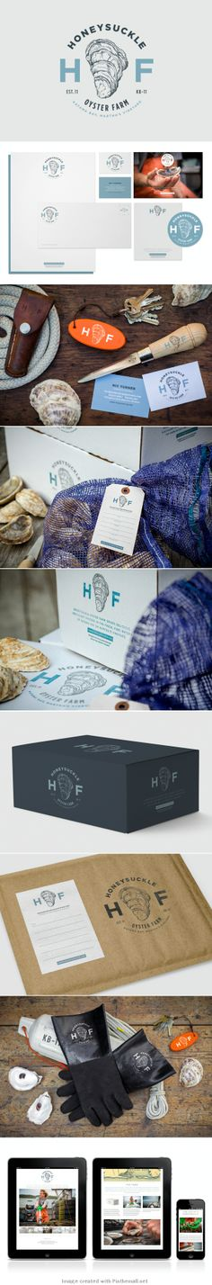 honeysuckle corporate design logo letter business card type