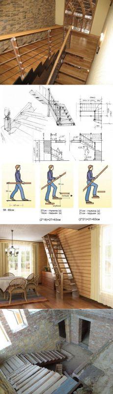 Как сделать лестницу в доме: проектирование, размеры, технология строительства