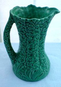Large SYLVAC Jug / Vase Green with raised floral design pattern number 1962 | eBay Have one of these from charity shop for few quid. This one selling for £45...!