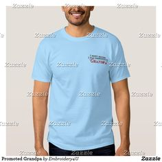 Promoted Grandpa Embroidered T-Shirt