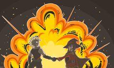 Anime Crossover  Katsuki Bakugou Megumin (KonoSuba) Boku no Hero Academia Kono Subarashii Sekai ni Shukufuku wo! My Hero Academia Fondo de Pantalla