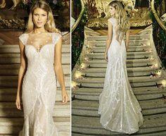 Pronovias silver dress.