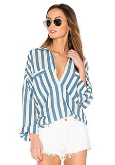 Capulet Luca Boyfriend Shirt in Blue Stripe | REVOLVE