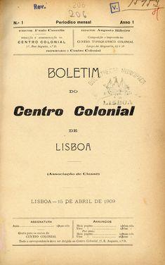 Boletim do Centro Colonial de Lisboa [Lisboa, 1909-1910]