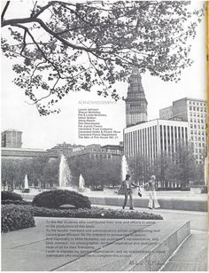 A view from Cleveland in the Dyke College Yearbook, 1972 - Cleveland, OH