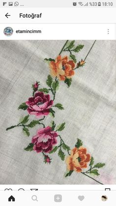 Diy Crafts Hacks, Cross Stitch Flowers, Needlework, Shabby Chic, Embroidery, Handmade, Design, Cute Cross Stitch, Stitch Patterns
