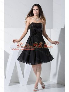 Sequin and Hand Made Flower Decorate Bodice Chiffon Black Knee-length Prom Dress- $115.69  http://www.fashionos.com    zipper up back prom dress   prom dress websites   sleeveless prom dress   2013 junior prom pageant dress   cheap plus size 2013 prom homecoming gowns   2013 sexy custom made prom cocktail dresses for sale   2013 2014 prom cocktail dresses   2013 discount prom cocktail dress   elegant 2013 2014 new prom cocktail dress  