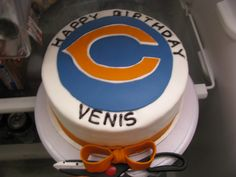 da bears not a cake i would want but i made this for my mom