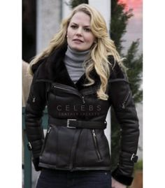 Buy Emma Swan (Jennifer Morrison) Black Leather Jacket in Once Upon A Time for Women at celebsleatherjackets.com on discounted prices and Free Shipping on Orders Over $200.