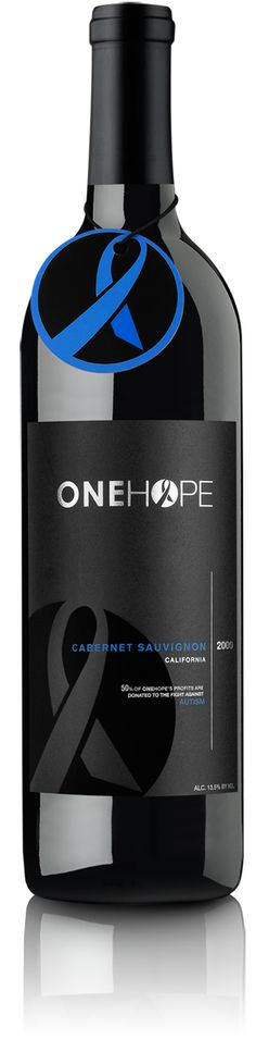 2010 ONEHOPE California Cabernet Sauvignon. Proceeds benefit Fight Against Autism. Bought a bottle for each of my coworkers this Christmas. :) Great philanthropic company.