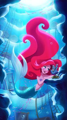 Imagen de disney, ariel, and the little mermaid Cute Disney, Disney Dream, Disney Girls, Disney Magic, Disney Artwork, Disney Fan Art, Disney Drawings, Princesa Ariel Disney, Disney Princess Ariel
