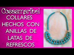 Collar hecho con anillas de latas de refrescos - YouTube