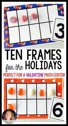 Looking for a Valentine themed math activity for your kindergartner or first grader? These printable ten frames are just what you need to help your student understand the concept of ten. There are frames and activities for every season! Perfect for math centers!
