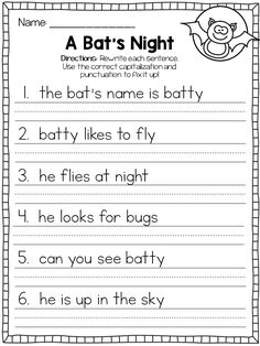 Capital Letters Worksheets First Grade See the category to find more printable coloring sheets. Also, you could use the search box to find what you wa. 1st Grade Writing Worksheets, Punctuation Worksheets, Handwriting Practice Worksheets, English Grammar Worksheets, Letter Worksheets, Worksheets For Kids, Capital Letters Worksheet, Use Of Capital Letters, Esl