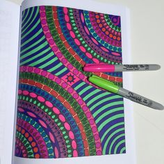 Freshly colored from 2 Old 2 Color: Wild Child - a brand new adult #coloringbook. Fun! http://www.amazon.com/Old-Color-Wild-Child/dp/1625660448 #Zentangle #doodle #doodleart #coloring #sharpieart #adultcoloringbook
