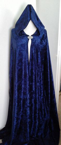 Custom Velvet Cloak with Clasp by ChickenVicious on Etsy