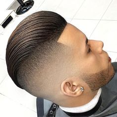 Edge Up Haircut - Undercut + Slicked Back Hair