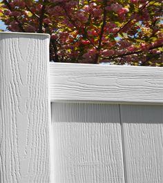 Nice Colonial White Vinyl Fence- Wood Grain (certagrain) Texture