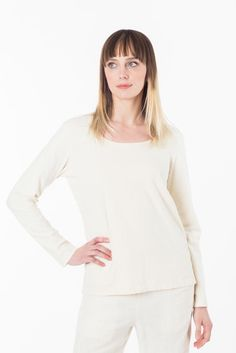 Women and Men's Eco Fashion organic cotton, hemp, bamboo wool eco-friendly and sustainable natural clothing all made in Vancouver BC Canada. Hemp, Organic Cotton, Winter Fashion, Scoop Neck, Fall, Long Sleeve, How To Wear, Color, Tops