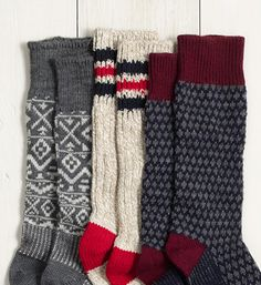 J.Crew camp socks. I LOVE big comfy thick warm socks! These kinds of socks are my all time favorites (: