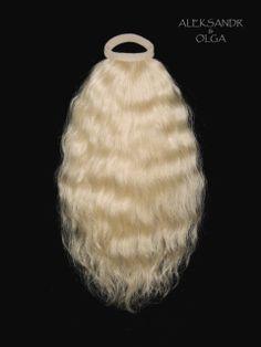 ХВОСТ на резинке - постиж, светлый блонд (из натуральных волос) http://www.aleksandr-and-olga.ru/ http://www.livemaster.ru/hair-collection