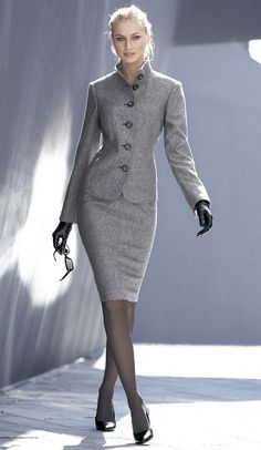 What a great Winter Suit for your Secrets In Lace Look.