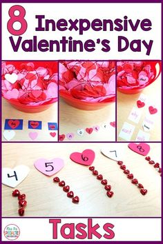 Adding theme tasks into our students' schedule can keep learning exciting, but it can make you go broke if you aren't careful! Here are 8 different Valentine's Day tasks that I made from $8 worth of materials from the dollar store. Best part... I still have materials left over to use in crafts or to personalize the tasks. #specialeducation #valentinesday  #Taskboxes