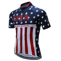 Stars and Stripes Cycling Jersey 9304df826