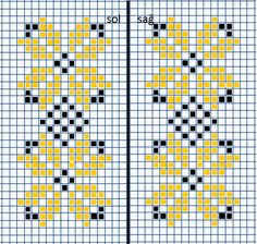 Kawaii Cross Stitch, Mini Cross Stitch, Cross Stitch Heart, Cross Stitch Borders, Counted Cross Stitch Patterns, Cross Stitch Designs, Cross Stitching, Cross Stitch Embroidery, Knitted Mittens Pattern