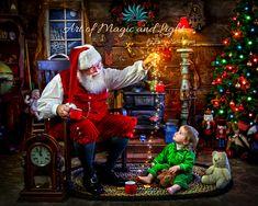 Magic of Christmas and Santa Claus Christmas World, Christmas Events, Santa Christmas, Christmas Pictures, Winter Christmas, Christmas Time, Christmas Portraits, Christmas Paintings, Santa Claus Images