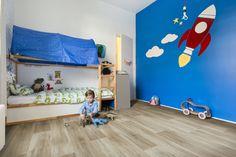 Boys room ft. BerryAlloc PURE Lime Oak 963M vinyl plank flooring