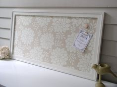 Lacey taupe magnet board