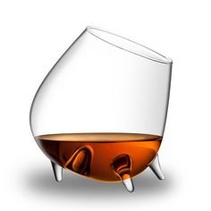 Final Touch Two-Piece Relax Cognac Glasses In Clear - Beyond the Rack // cute!
