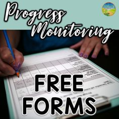 These free progress monitoring forms are designed to help educators record and track data on individual students This includes data for IEP goals and objectives and stude. Teaching Special Education, Teaching Resources, Special Education Organization, Teaching Ideas, Teaching Tools, Classroom Organization, Sight Words, Tumblr Posts, Data Collection Sheets