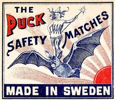 Swedish matchbox label