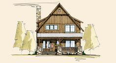 Northshore Front Elevation -- Natural Element Homes