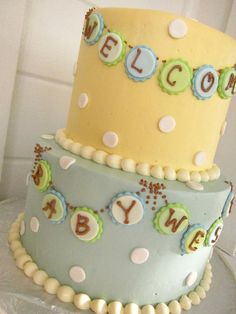 vintage baby shower | Vintage Baby Shower Cake | Flickr - Photo Sharing!
