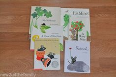 Leo-Lionni-Childrens-Book-lot-of-6-Paperback-A-Busy-Year-Frederick-Its-Mine