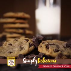 The perfect pair: a warm Simply Delicious Chocolate Chip Cookie and a glass of cold milk. Try our new ready-to-bake cookie dough made with high-quality ingredients like pure cane sugar and cage-free eggs.