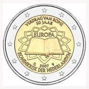 "Nederland bijzondere 2 Euromunten - Nederland 2 Euro 2007 ""Verdrag van Rome"""