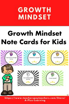 These growth mindset note cards for kids are a great way to help them develop and maintain a healthy, positive, attitude towards life and school. It is also a great way to promote positivity in the classroom. Classroom Organization, Classroom Management, Student Awards, School Resources, My Teacher, Growth Mindset, Positive Attitude, Kids Cards, Note Cards