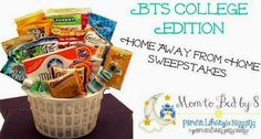 Enter to #win  ends 8/5/14 - Away From Home Snacks and Essentials Care Package includes: Mini Laundry Hamper; Laundry Bag; Animal Cracker Cookies; Pretzel Twists; Cracke...
