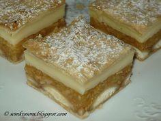 RECEPTY Z MOJEJ KUCHYNE: Jablkový koláč z lístkového cesta s pudingom