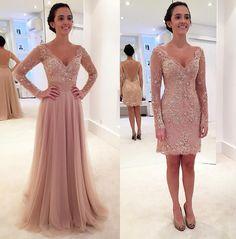 Luxo de vestido! Cheio de glamour e com um caimento maravilhoso que só valoriza a silhueta