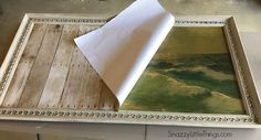 3 Easy Steps for Repurposing Old Canvas Art