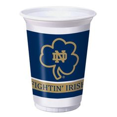 (96/case) Case of University of Notre Dame Plastic Cups, 20 Oz