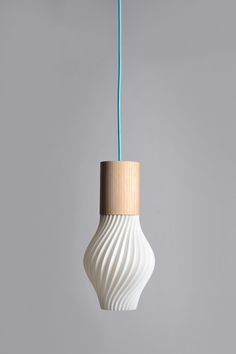 Those lamps are the fruit of a Franco & Taiwanese collaboration to create an Eco friendly product that mix booth new technology such as 3D printing and handmade woodcraft work. The inovative design of those lamps are the way they are attached to the wood part with ingenious magnet system that allow you to change the LED spot very ealsy. Wood part Ash. Plastic from corn