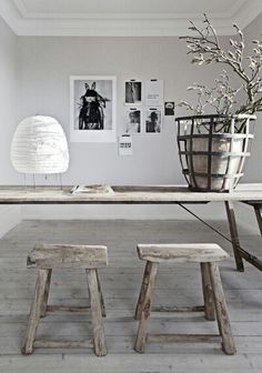 contemporary-rustic-modern-living-room-wood-trunk-table - Home Decorating Trends - Homedit Home Interior, Interior Styling, Interior Architecture, Interior And Exterior, Interior Decorating, Interior Blogs, Design Interior, French Architecture, Country Interior